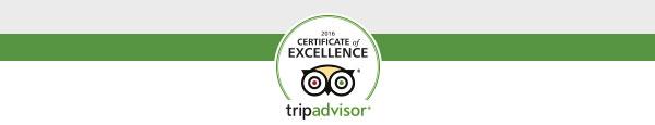 TripAdvisor award for Stone Hill