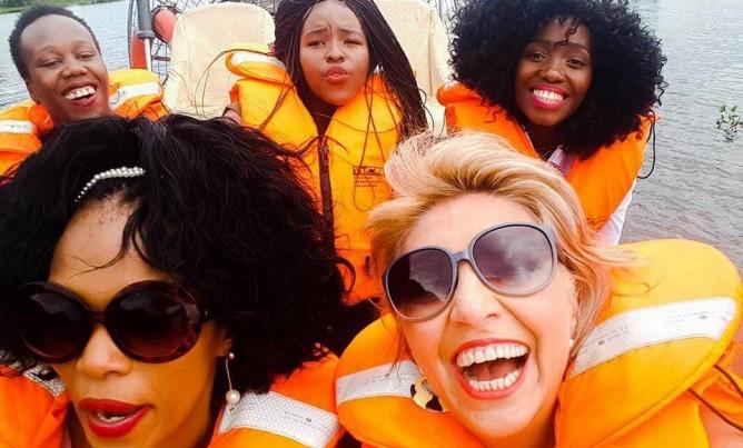 Airboat Afrika celebrates with the NSRI
