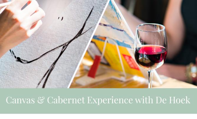 Canvas & Cabernet experience with De Hoek