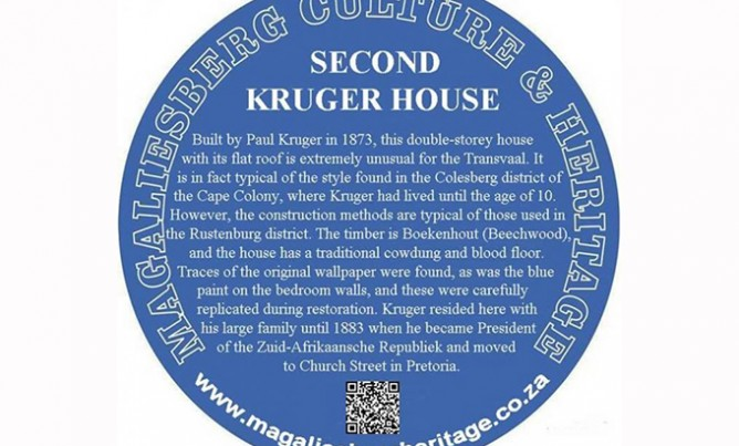 What is a blue plaque?